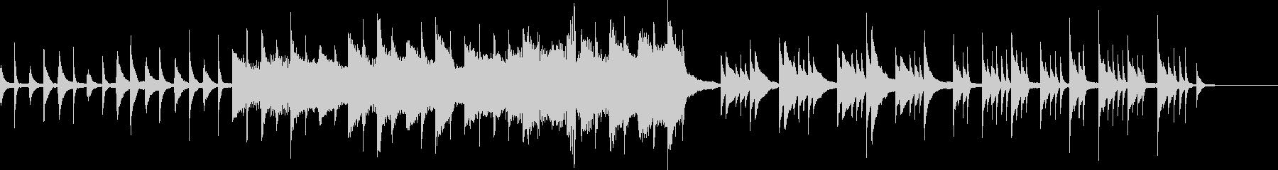 悲しいピアノ曲の未再生の波形