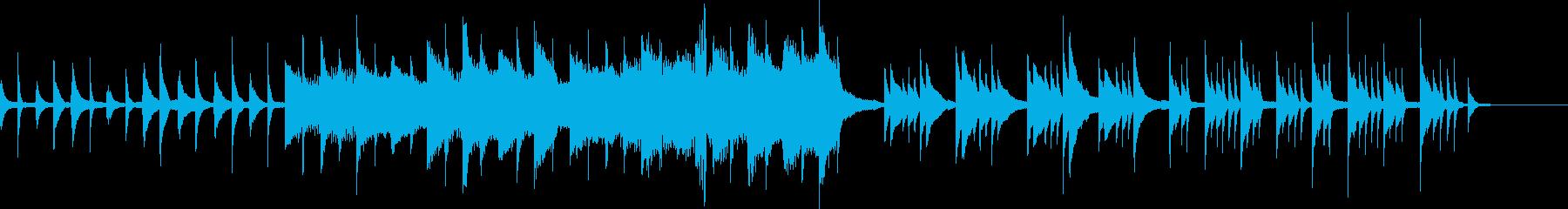 悲しいピアノ曲の再生済みの波形