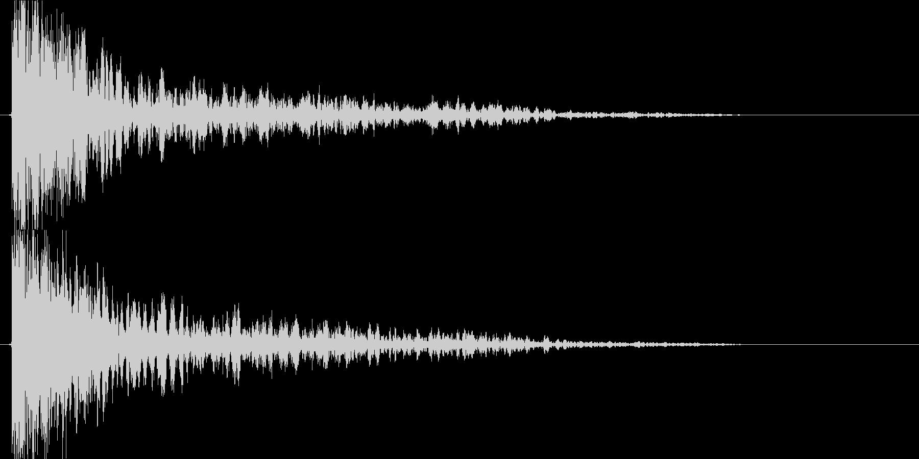 衝撃 爆発15の未再生の波形