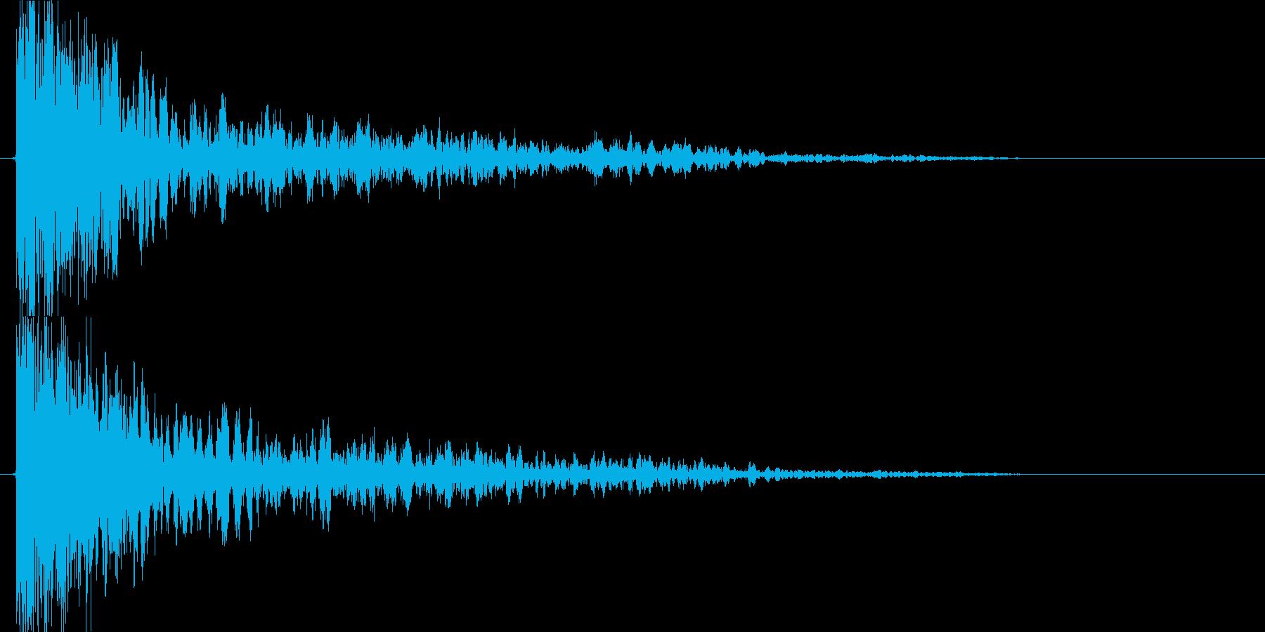 衝撃 爆発15の再生済みの波形