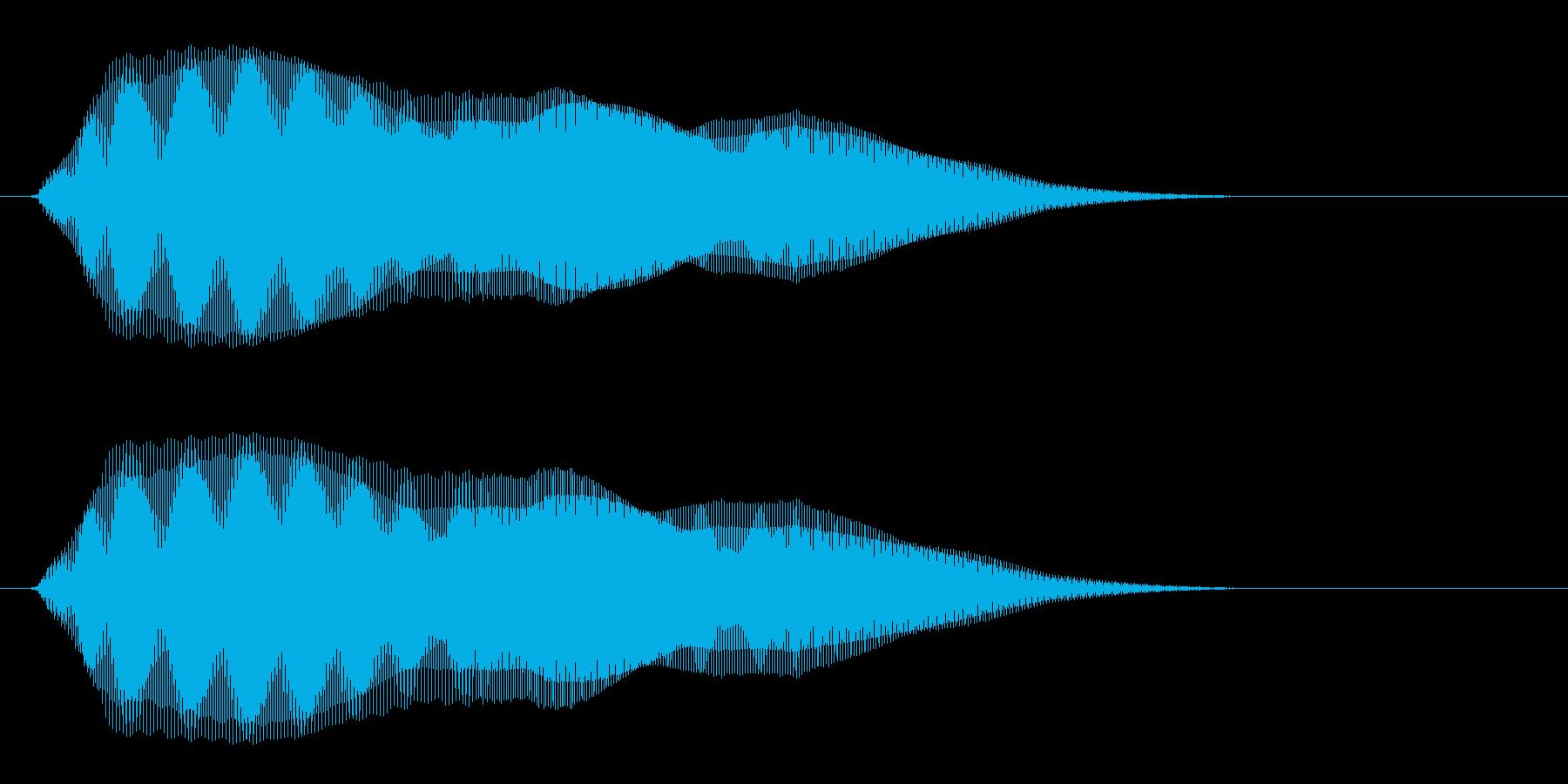 ピッピュ↑〜↓ン(短め)の再生済みの波形