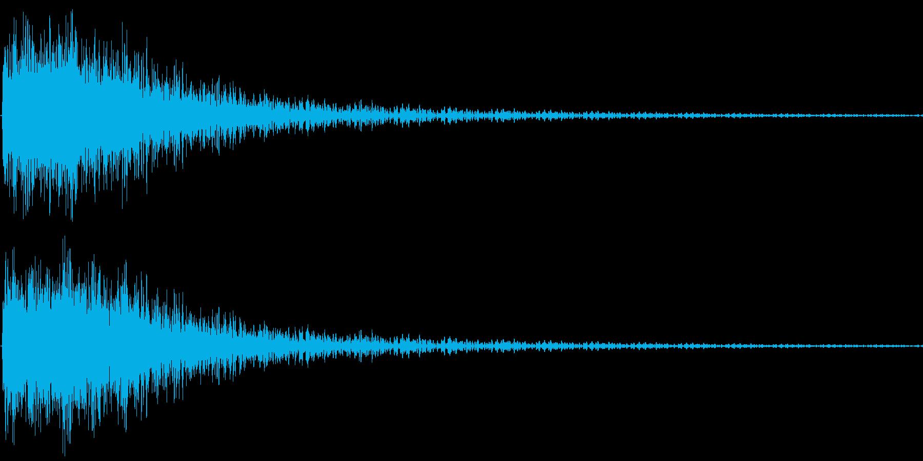 ずっこけるの再生済みの波形