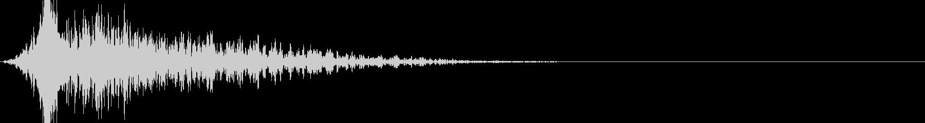 衝撃の展開_ガーンの未再生の波形