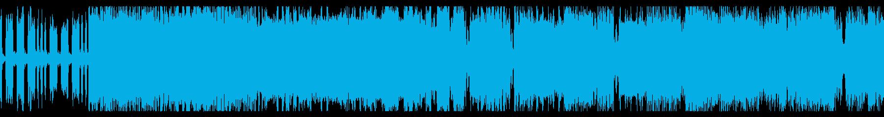 バトル向けな3連リズムのチップチューンの再生済みの波形