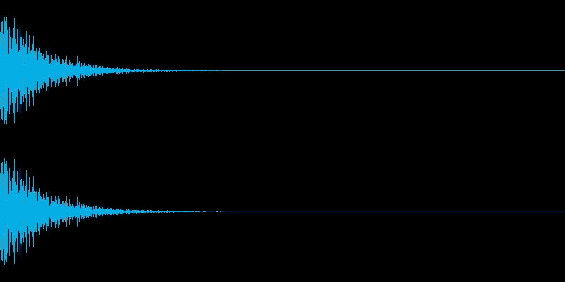 メープル材ドラムキット_スネア03の再生済みの波形