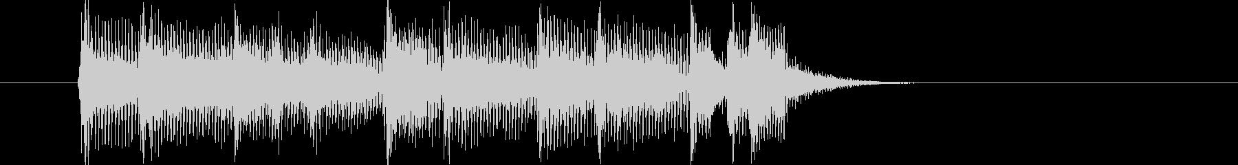 活発なバンド演奏のポップスのジングル曲の未再生の波形
