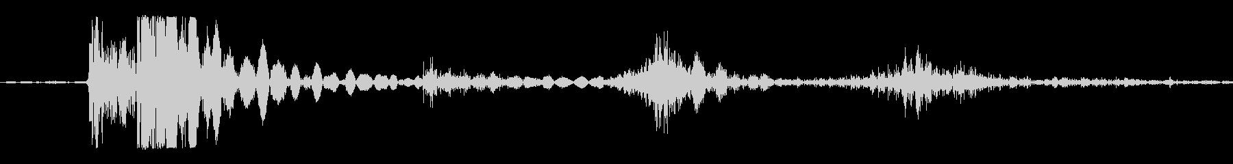 バブルラップへの影響、大、X4の未再生の波形