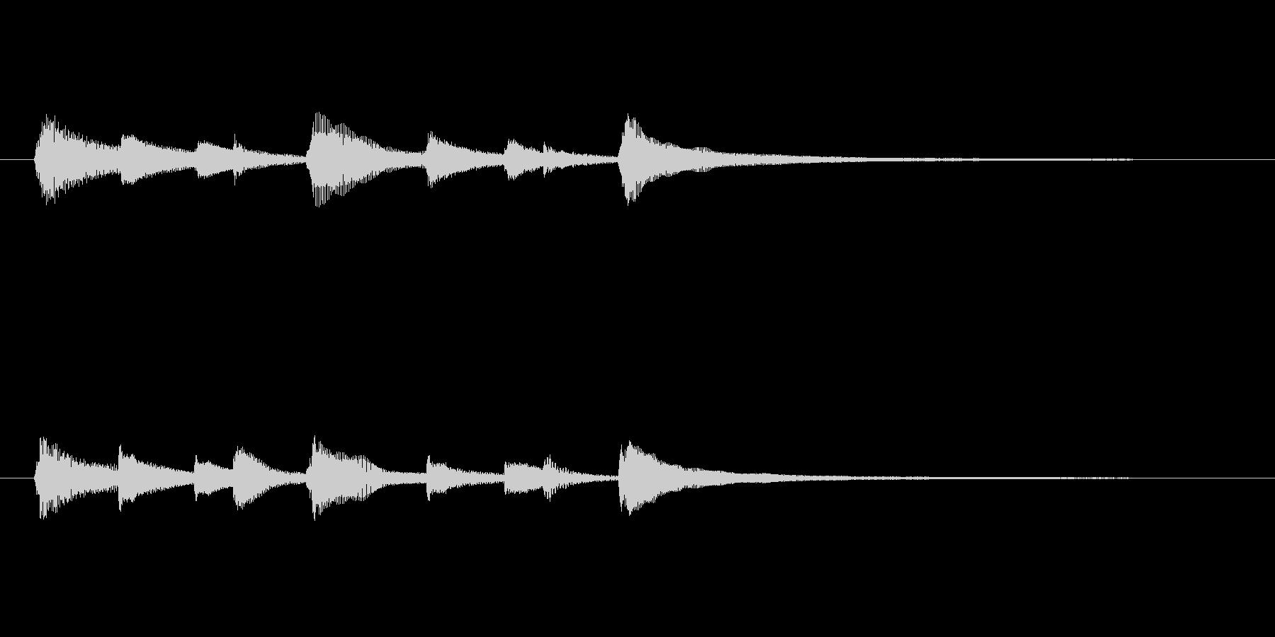 CM等で使いやすいピアノソロジングルの未再生の波形