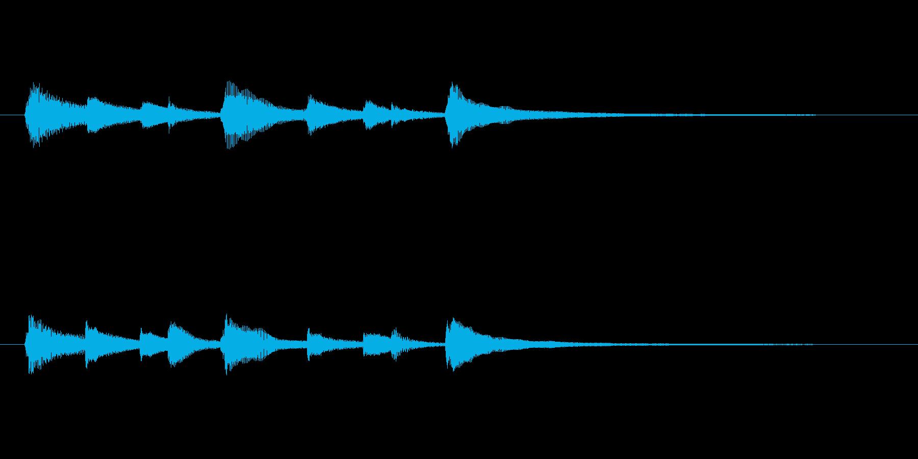 CM等で使いやすいピアノソロジングルの再生済みの波形