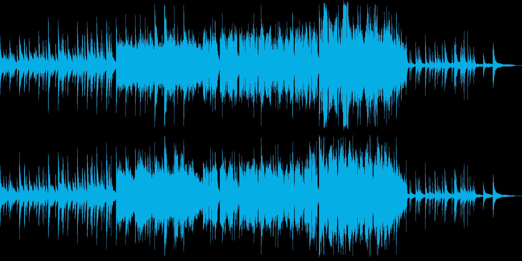 夕暮れの一コマを映し出す風情溢れるピアノの再生済みの波形