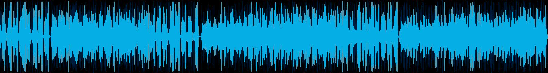 夏を感じるラテン風エレクトロゲームBGMの再生済みの波形