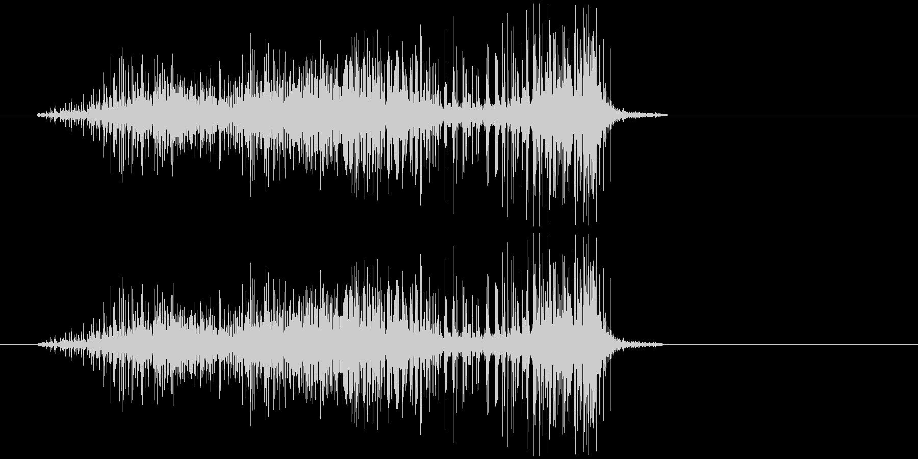 ビリビリ(布が破れる音)の未再生の波形