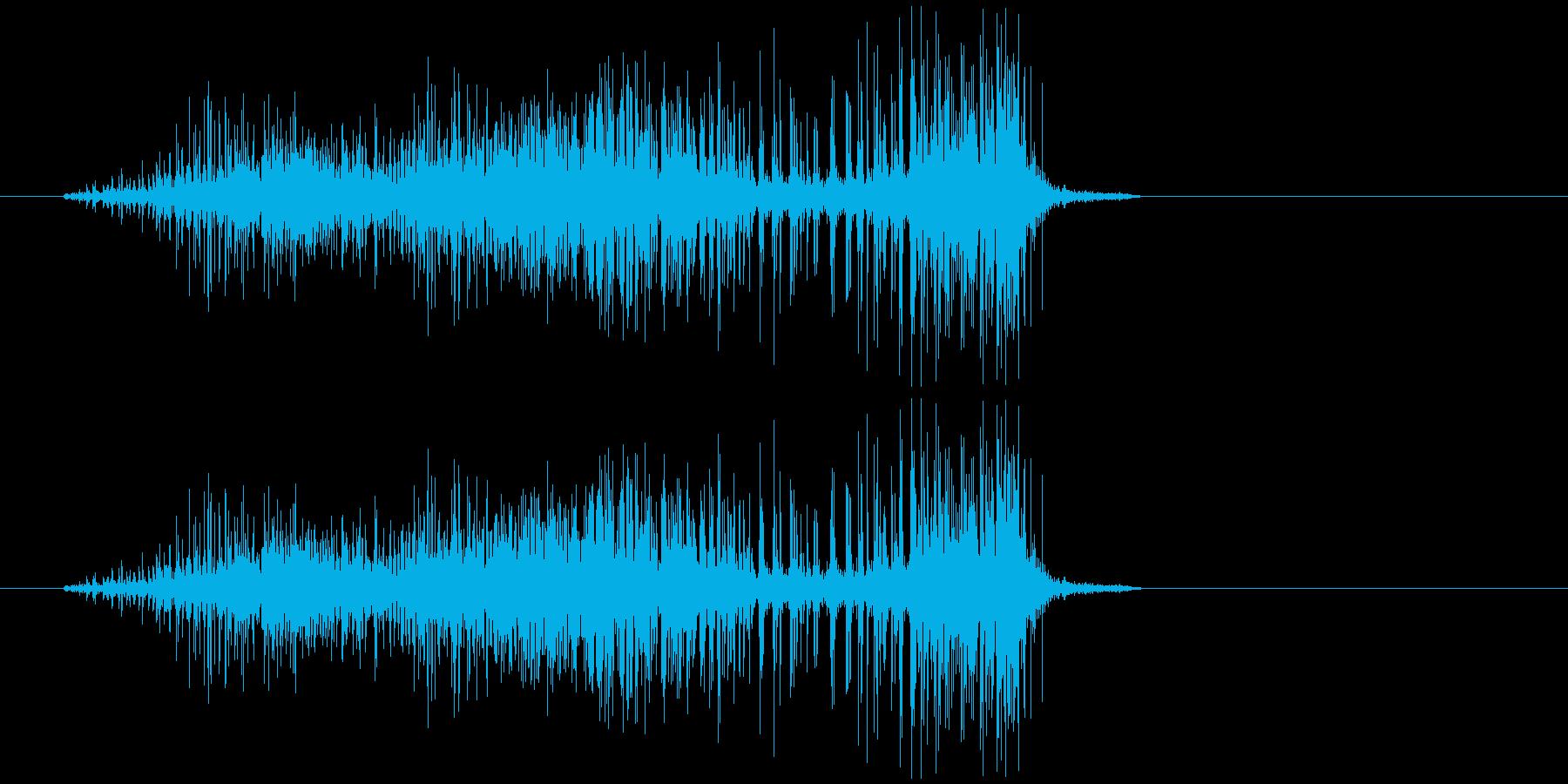 ビリビリ(布が破れる音)の再生済みの波形