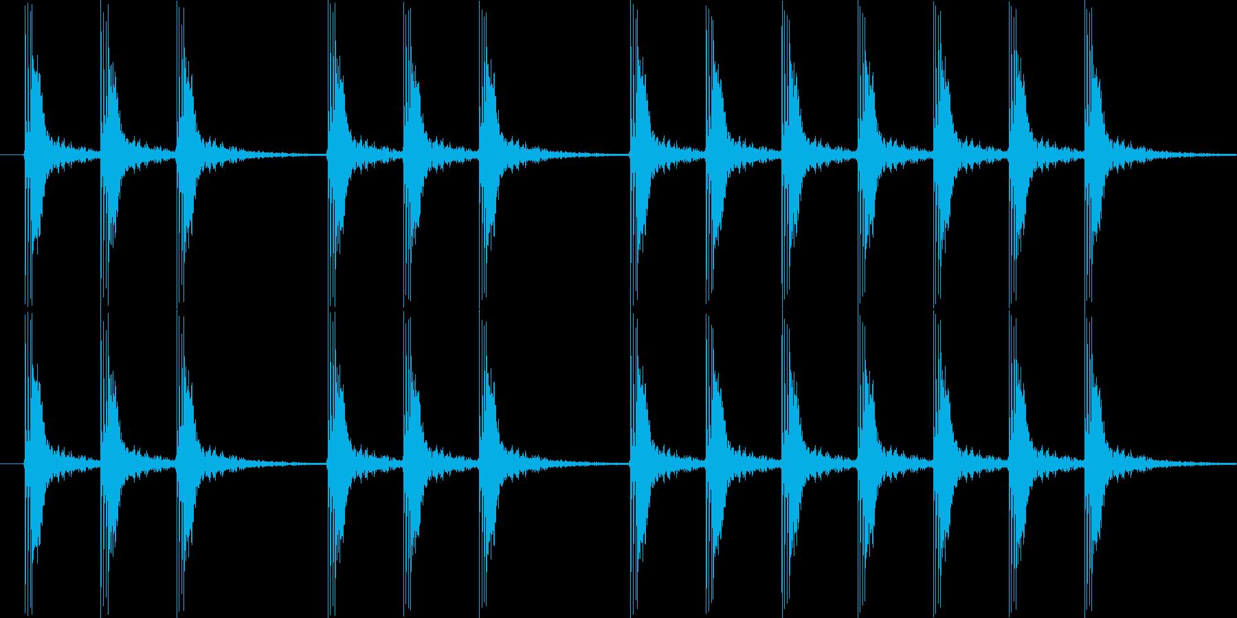 パンパンパン 三三七拍子の再生済みの波形