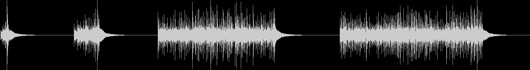 ドラム、ハイトム、ロール、4バージ...の未再生の波形