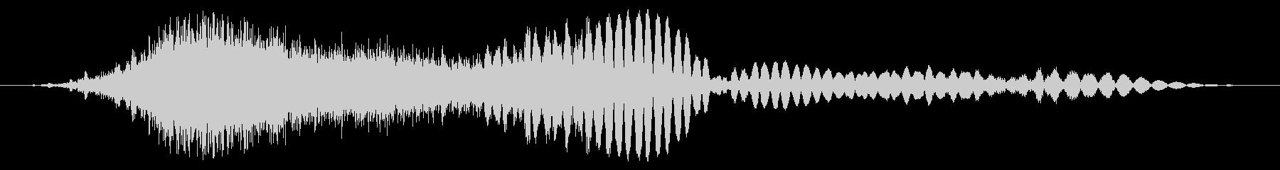 感電フーの未再生の波形