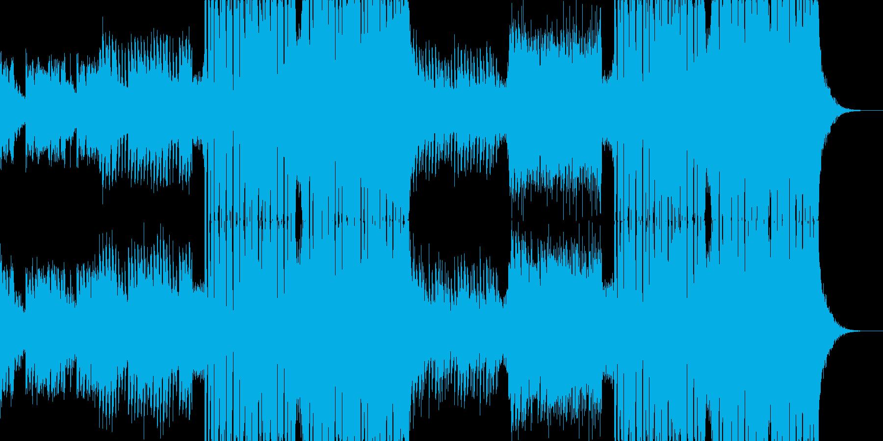 爽やかでノリの良いEDM/ピアノ/ハウスの再生済みの波形