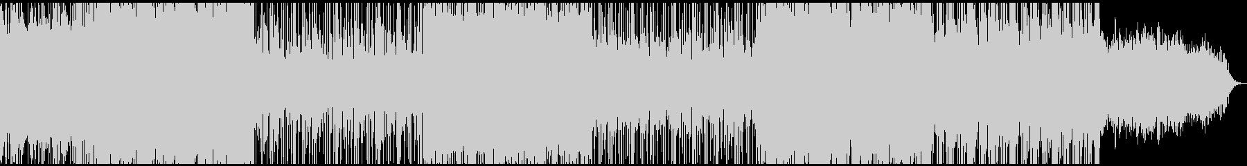 やさしく牧歌的な曲調のエレクトロの未再生の波形