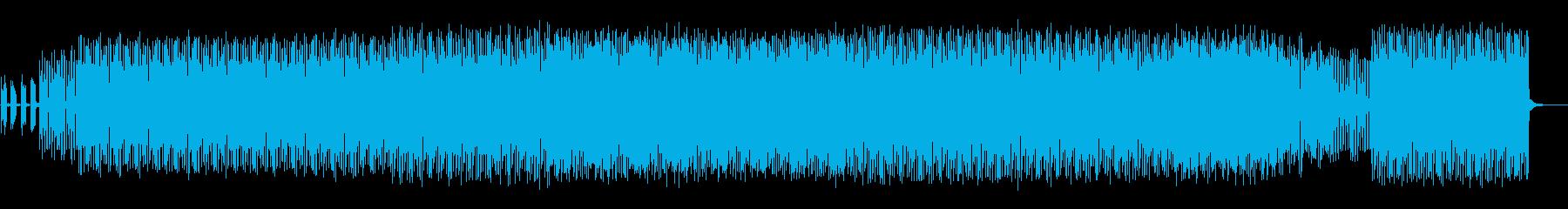 電脳的で近未来風のテクノの再生済みの波形