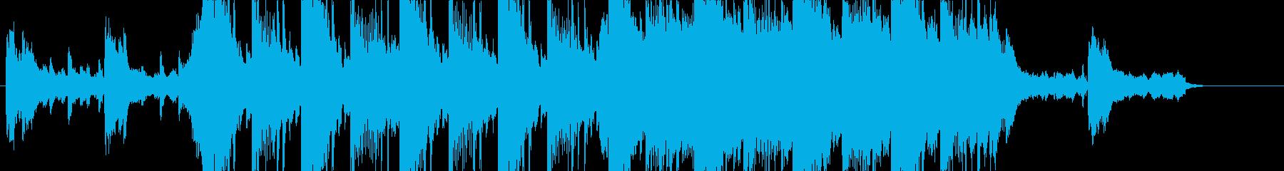 壮大で何かが始まりそうな楽曲の再生済みの波形