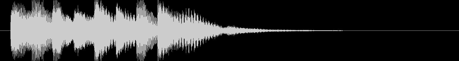 シンプルなジングル【ピアノ】その13ですの未再生の波形