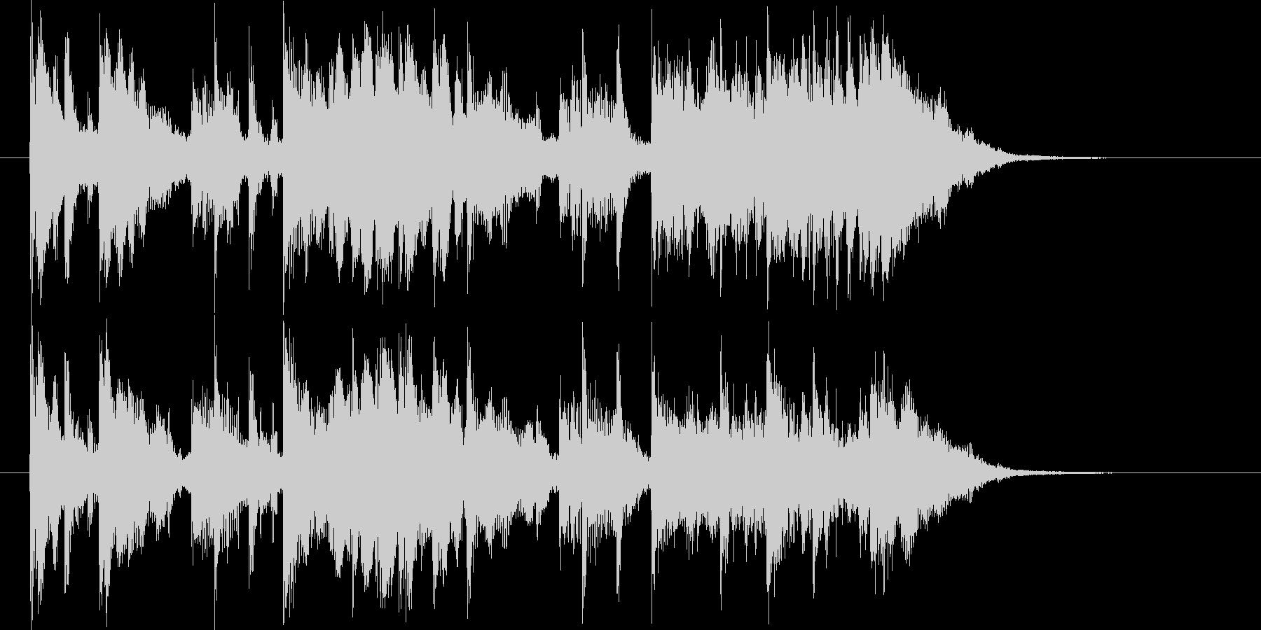 透明感があり鉄琴が印象的なBGMの未再生の波形