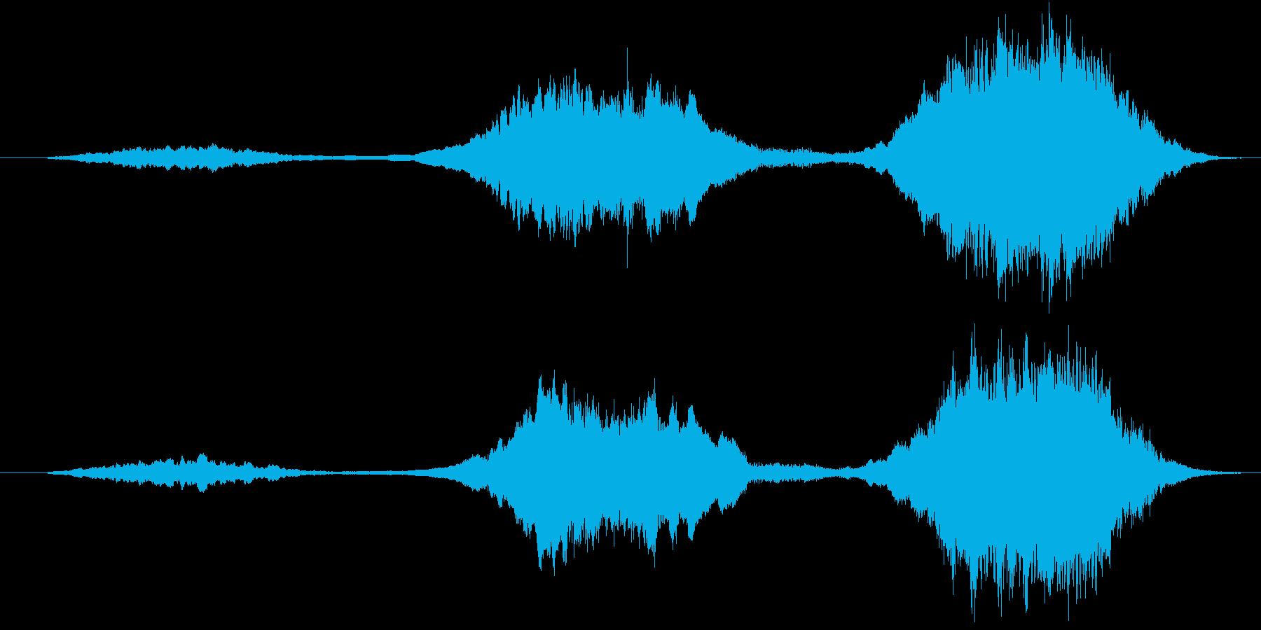 ストリングスによる不協和音の再生済みの波形