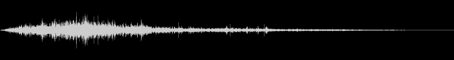 ダウンヒルスキーヤースキーの未再生の波形