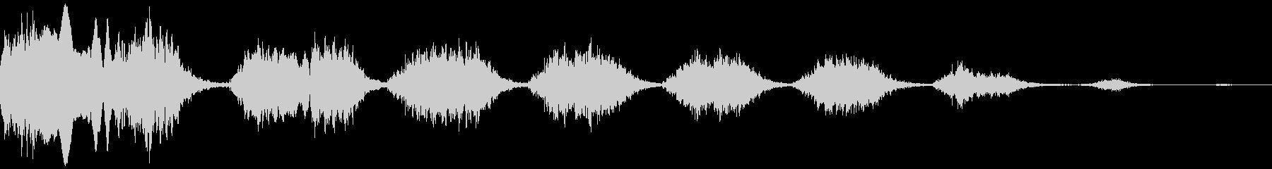 鳥の奇声の未再生の波形