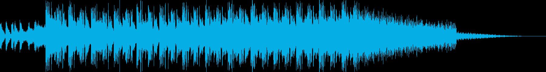 始まりを感じる明るいEDMサウンド22秒の再生済みの波形