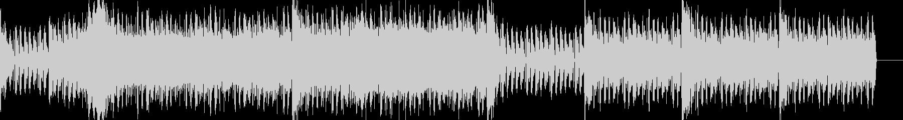戦闘シーン 電子音とオーケストラの未再生の波形