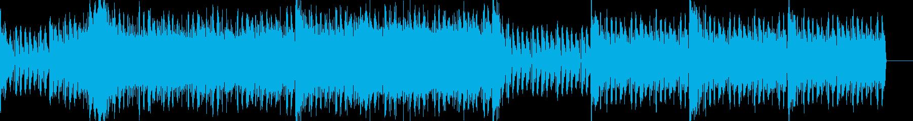 戦闘シーン 電子音とオーケストラの再生済みの波形