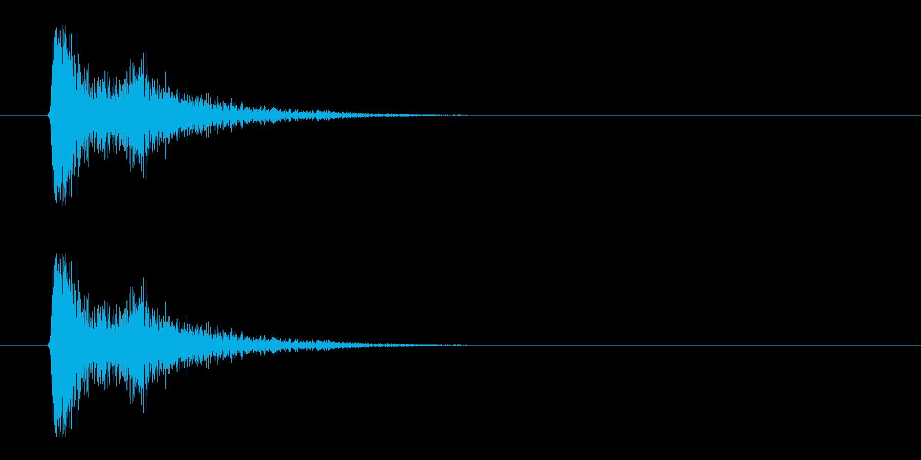レーザー音-01-3の再生済みの波形