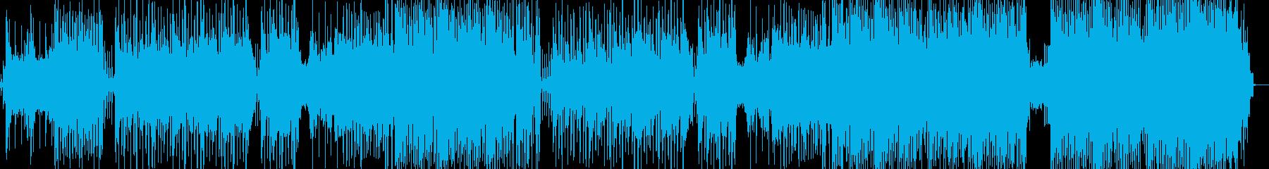 今にもタイマンが始まりそうなヒップホップの再生済みの波形