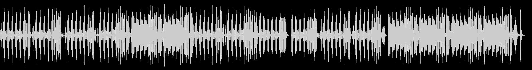 妖艶でコミカルなサックスのジャズ風曲の未再生の波形