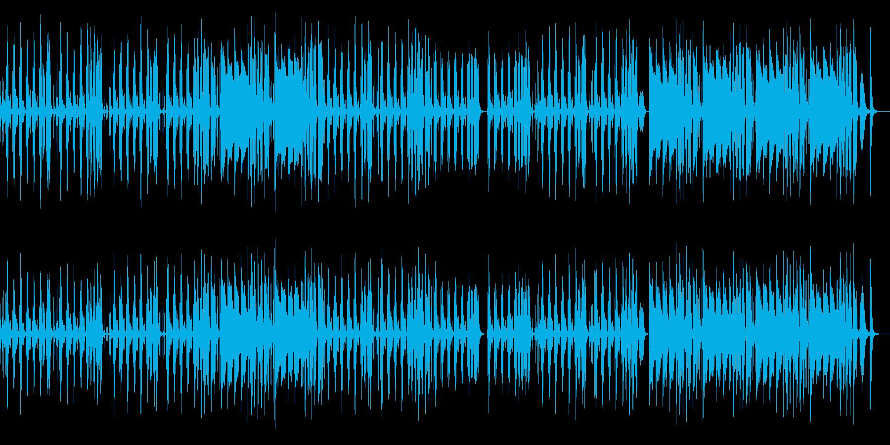 妖艶でコミカルなサックスのジャズ風曲の再生済みの波形