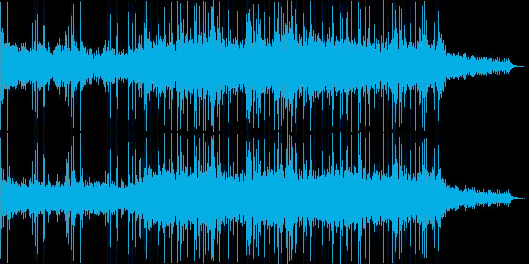 空をイメージしたわくわくするテクノポップの再生済みの波形