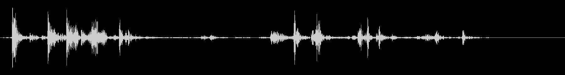 ロックタンブルアンドボルダーオンロールの未再生の波形