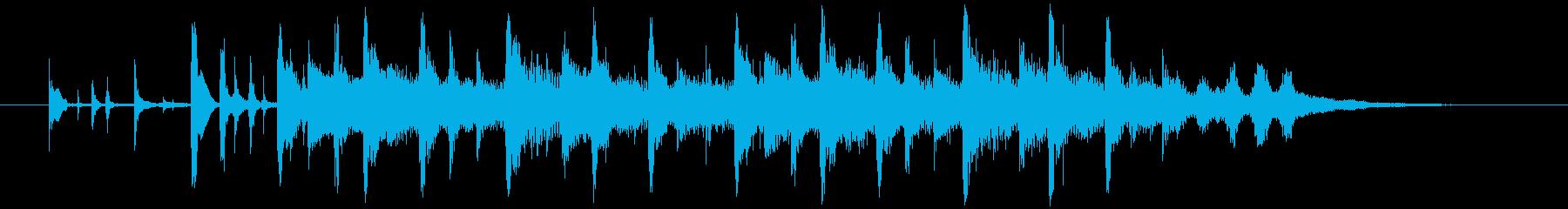 ナチュラルでアコースティックなジングルの再生済みの波形