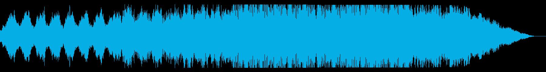 もの悲しさのある落ち着いた雰囲気のBGMの再生済みの波形
