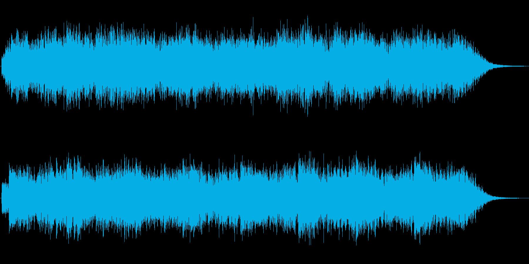 シンセによる神秘的な雰囲気のジングルの再生済みの波形