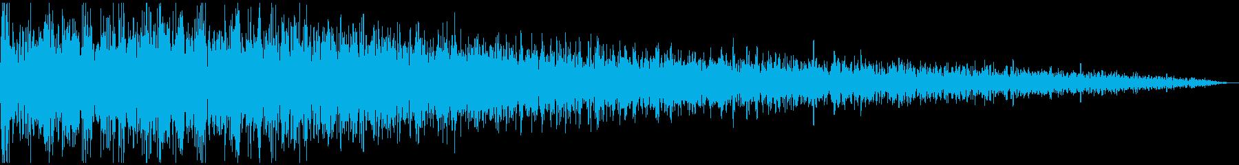 ガーン (ショック、衝撃を受ける)+高音の再生済みの波形