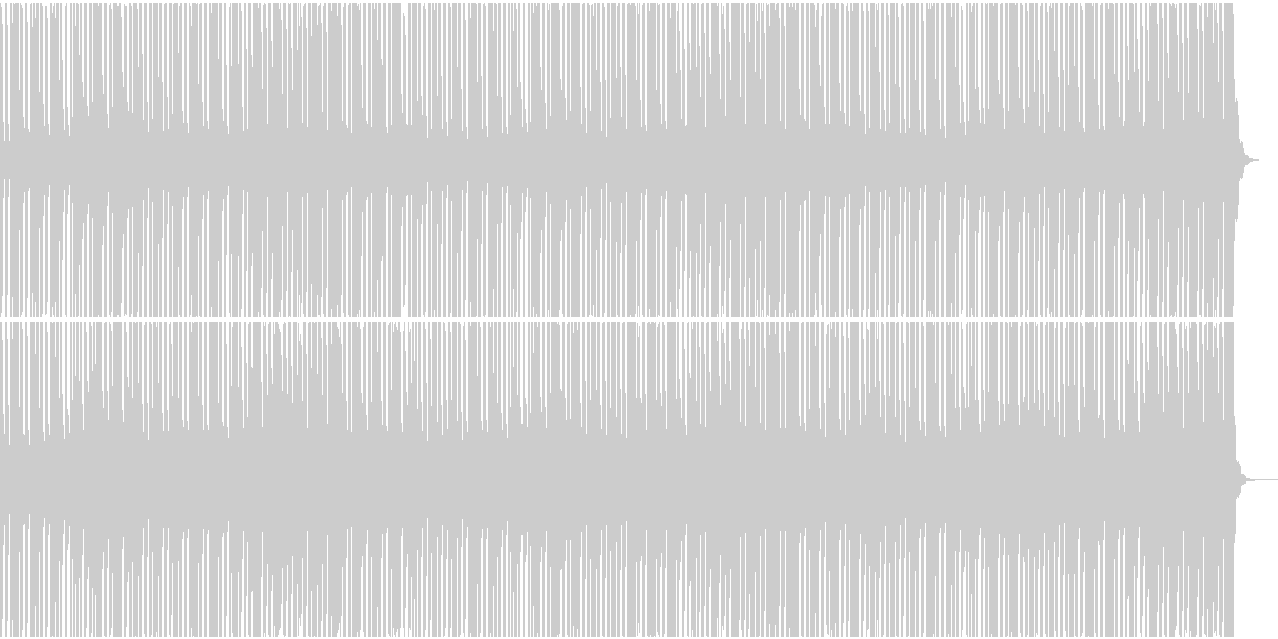 ケロケロフロッグのデンデンリズムの未再生の波形