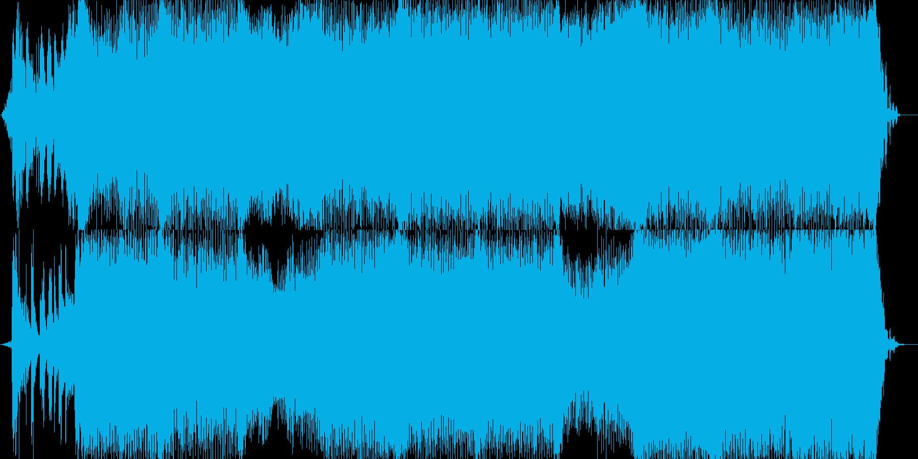 和風ハウス的な華やかな入場曲の再生済みの波形