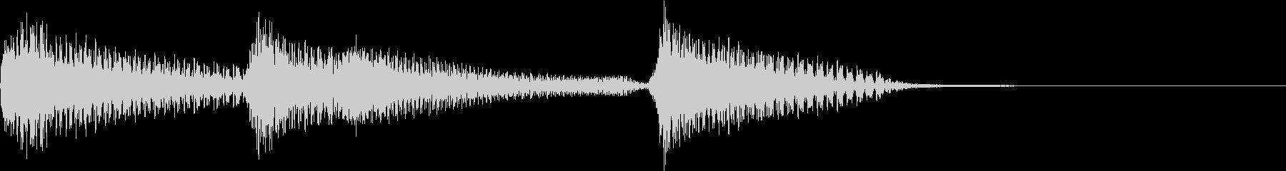 不気味なウッドベース/ピアノ転換効果音の未再生の波形