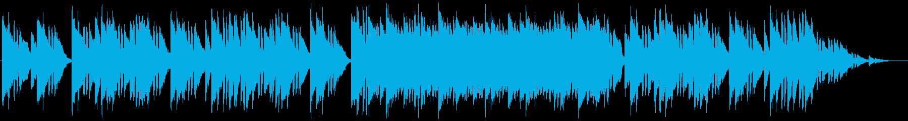 暗めの雰囲気のハープシコードの再生済みの波形