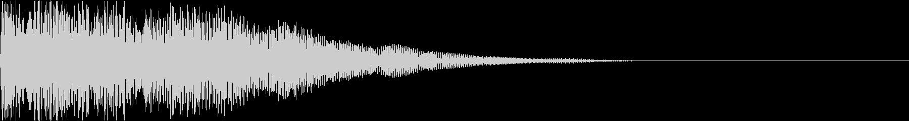 爆発 ドカーン ドーン 衝撃 機械的 8の未再生の波形