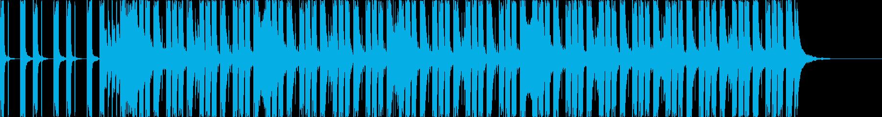 落ち着いた雰囲気のミディアムエレクトロの再生済みの波形