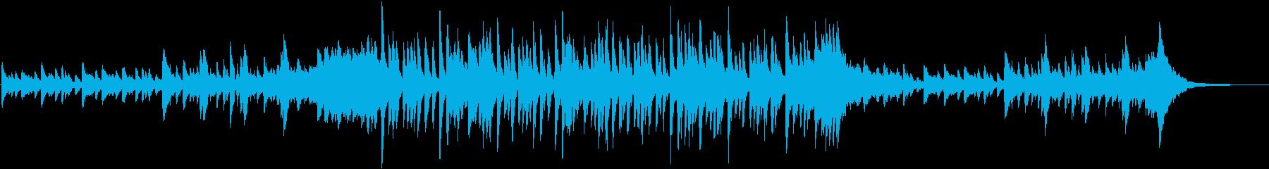 ピアノが爽やかなドラマチックBGMの再生済みの波形