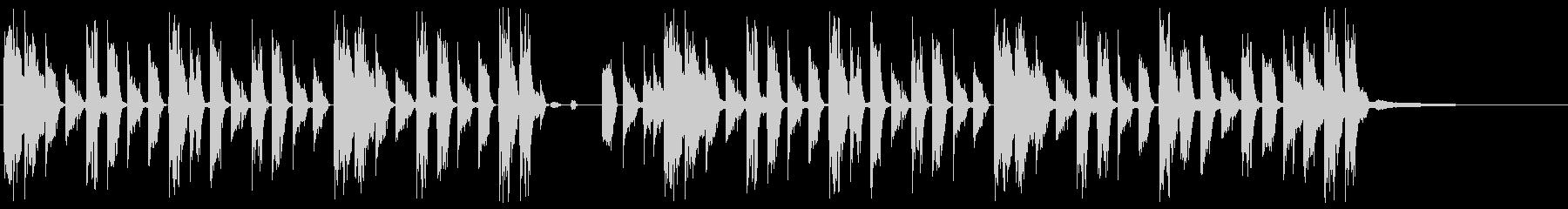 渋い印象のシンキングタイム04の未再生の波形